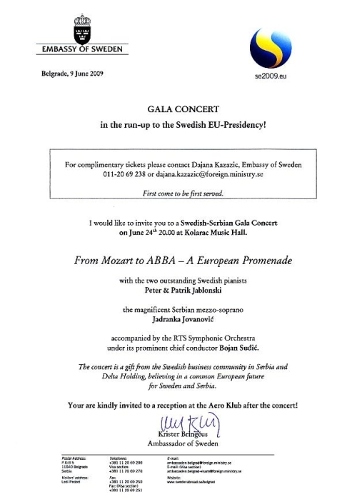 Invitation to a Gala Concert